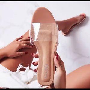 EGO Kerrie Clear Perspex Nude Sandals